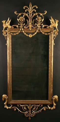 476: A Splendid Late 18th Century Gilt Wall Mirror.  Th