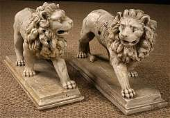 569: A Pair of Fabulous Early 17th Century Carved Carra