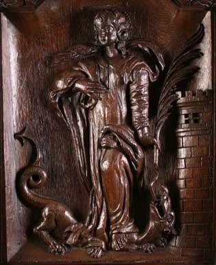 1: A Fine 16th Century Arras Relief Carved Panel Circa