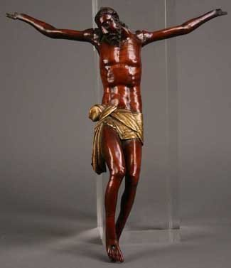 11: An 18th Century Carved Boxwood Corpus Christi with
