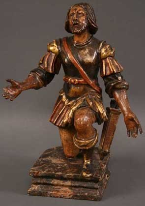 12: An 18th Century Spanish Polychromed Wood Carving of