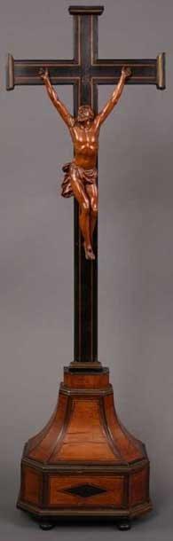 13: A 17th/18th Century Spanish Carved Walnut Corpus Ch