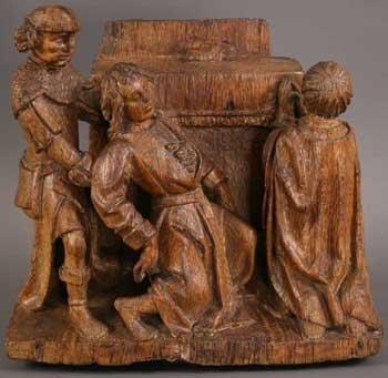 14: A 16th Century Antwerp School Oak Carving of three