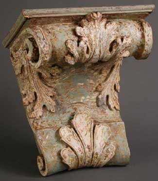 20: A Large 18th Century Carved & Painted Wall Bracket