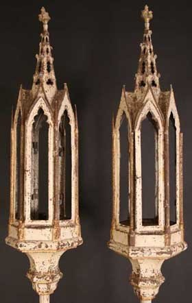 21: A Pair of Tall Late 18th/Early 19th Century Painted