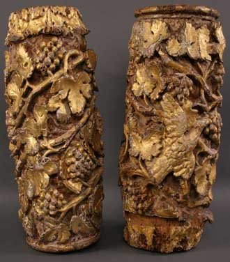 22: A Pair of Sections of 16th Century Spanish Columns