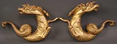 23: A Pair of Fine Early 19th Century Carved Giltwood O