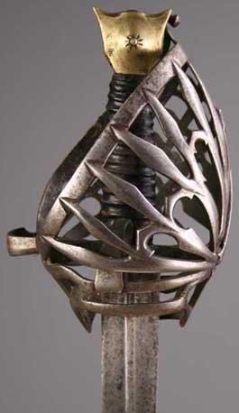 80: A 17th Century Italian 'Schiavona' Sword.  The bask