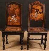 314: Two Similar Italian 18th Century Inlaid & Ebonised