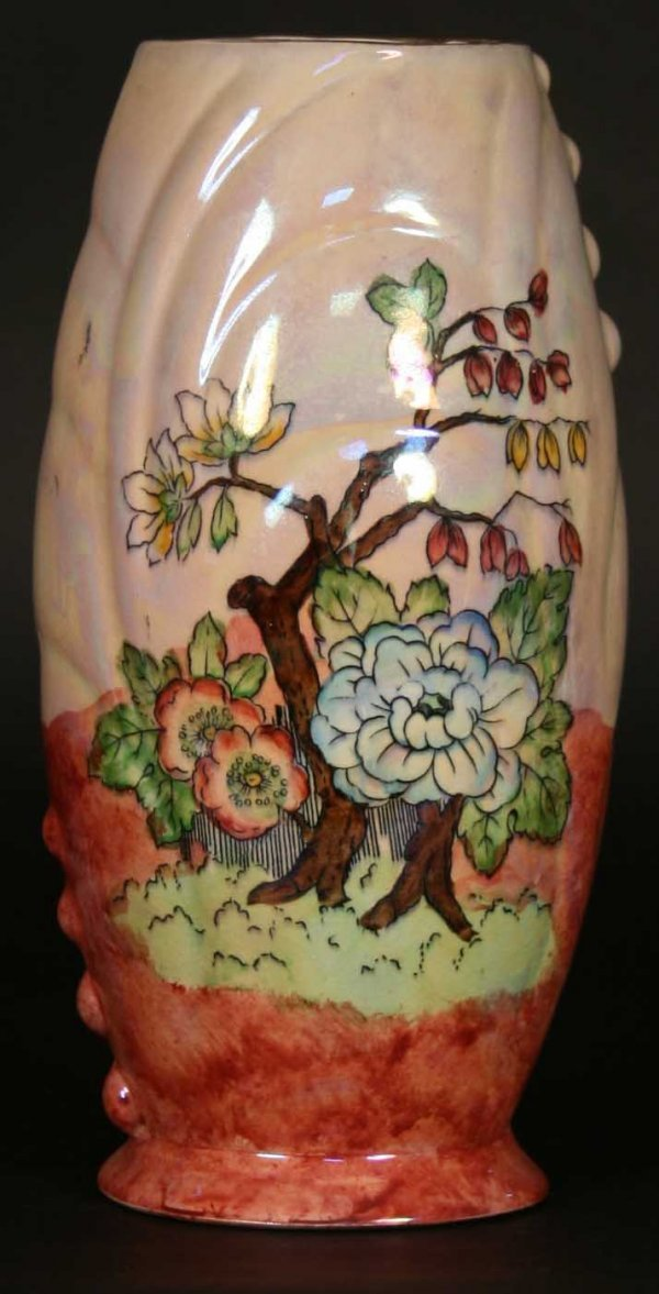 249: A Kensington Ware Staffordshire Vase Printed with