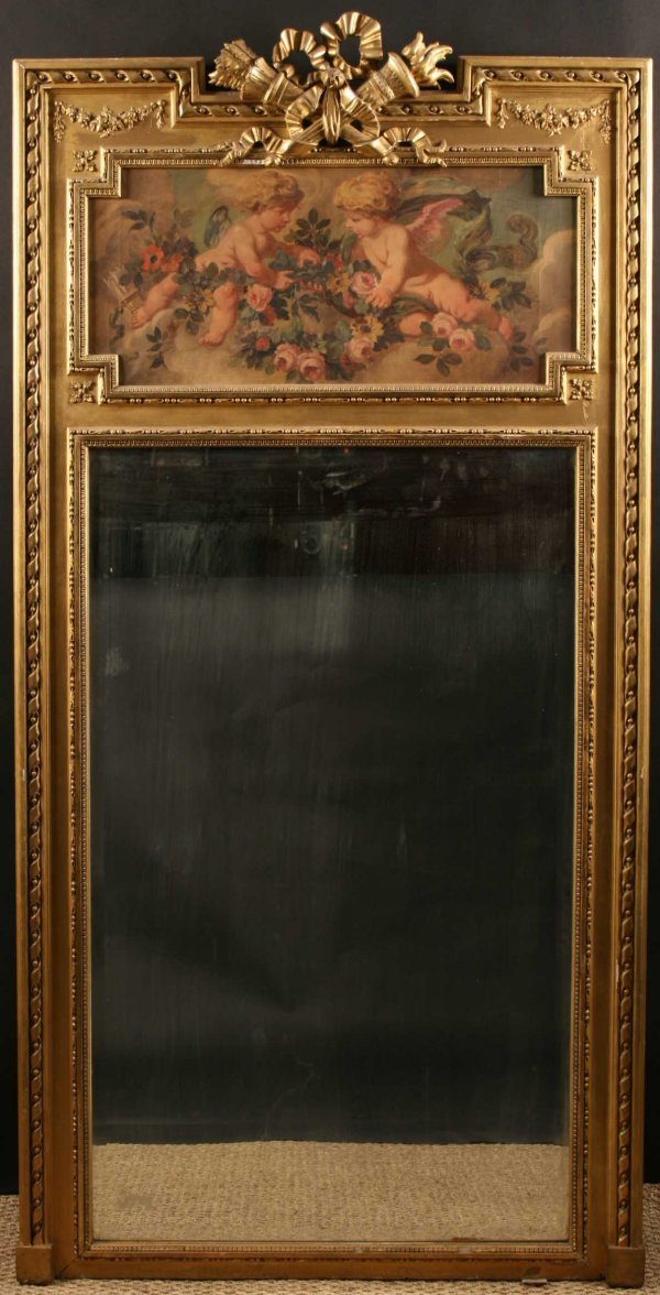 445: An 19th Century Mirror in the Louis XVI Style.  Th