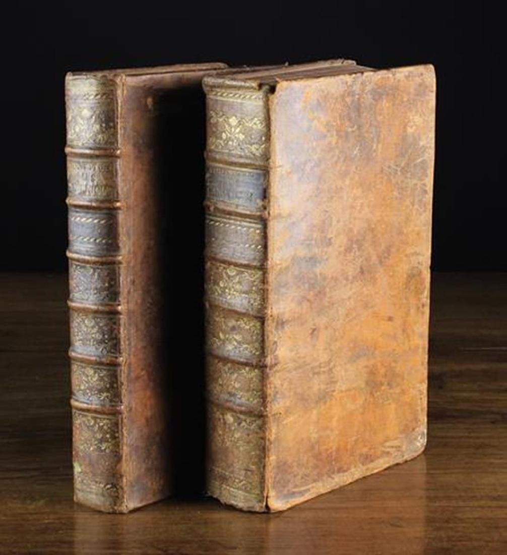 Two 18th Century Leather Bound Theological Volumes in