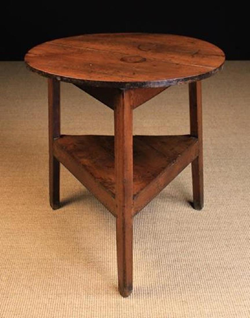 A Late 18th/Early 19th Century Joined Oak Cricket