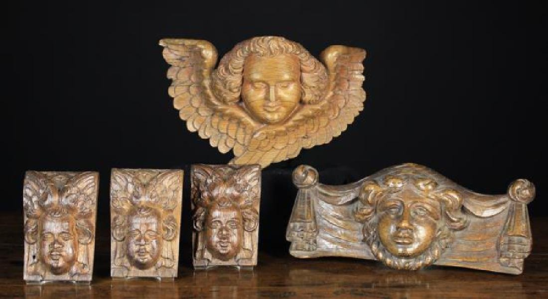 Ornamental Carved Wooden Face Masks