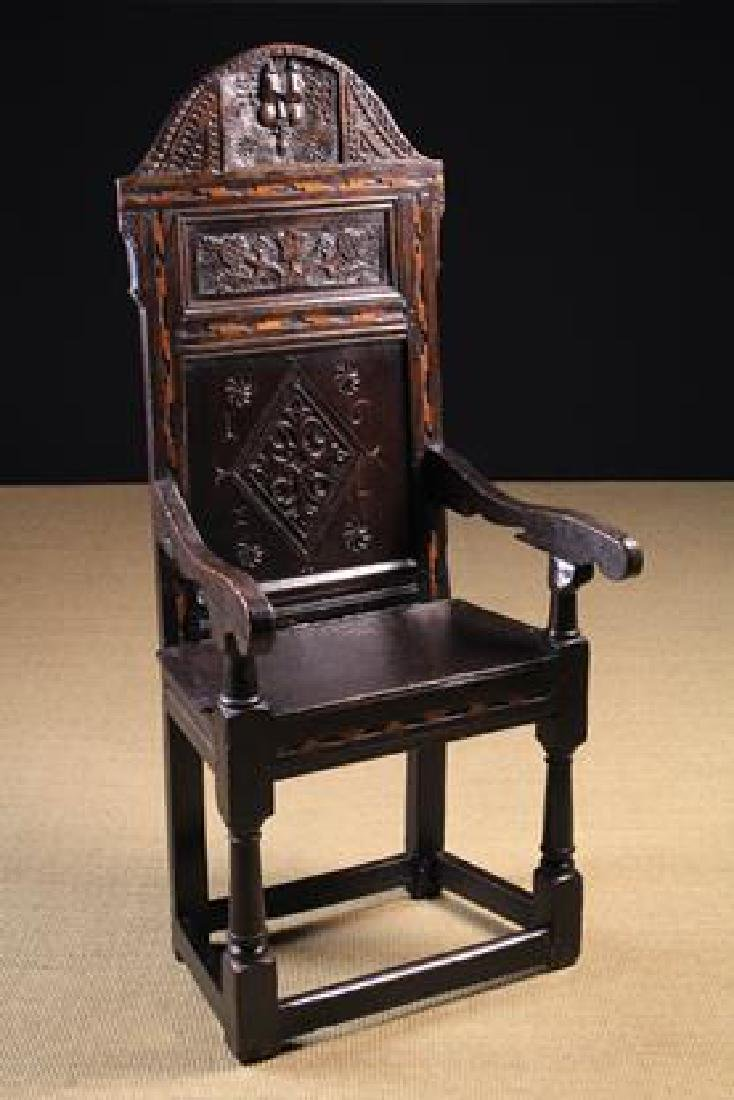 Outstanding A Fine James I Oak Cacqueteuse Type Wainscot Chair Squirreltailoven Fun Painted Chair Ideas Images Squirreltailovenorg