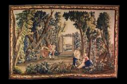 A Large 18th Century signed Aubusson Tapestry depicting