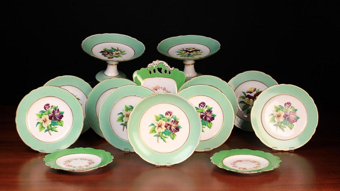 A Victorian Dessert Service comprising of two comports,