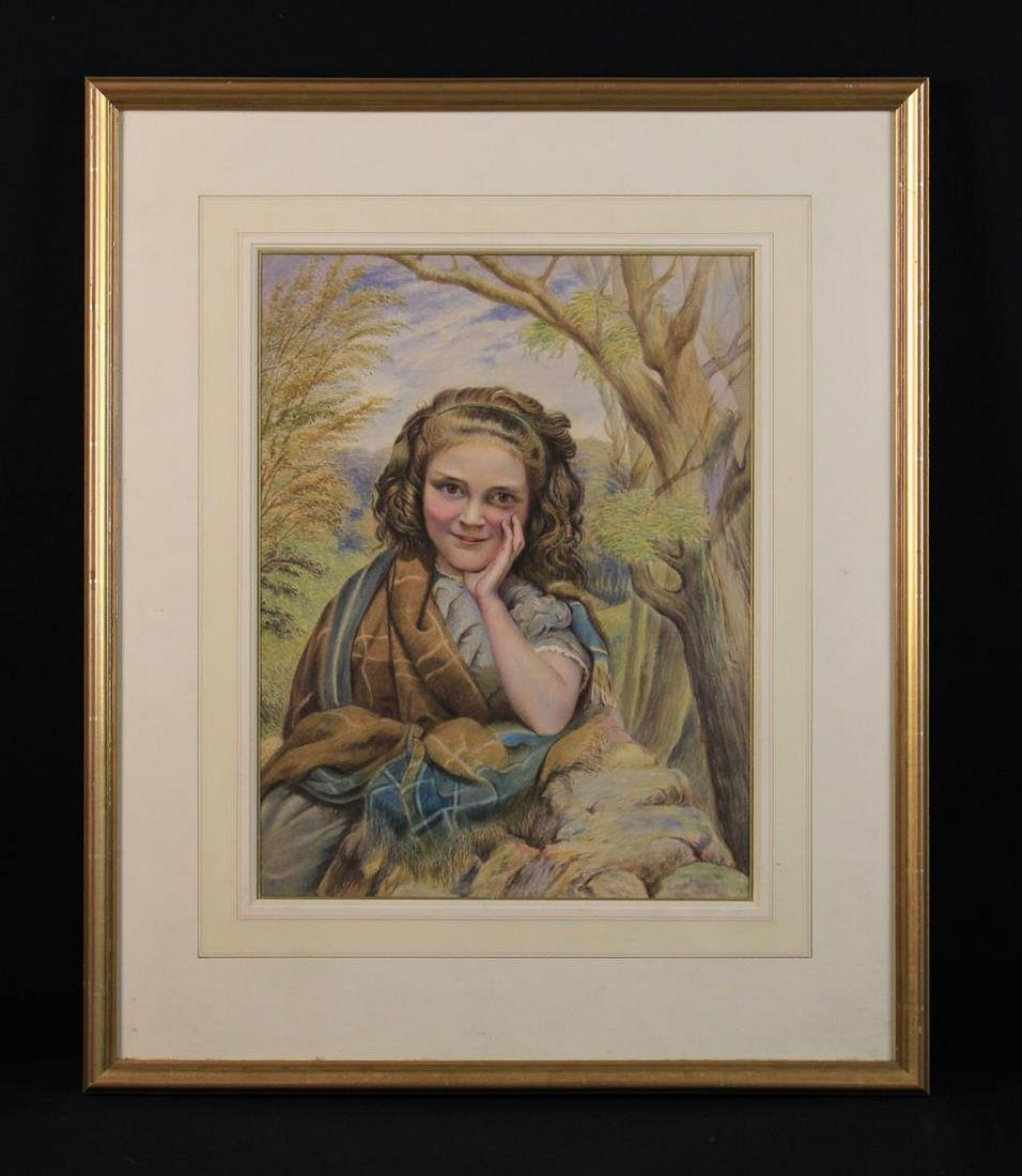 Two Watercolour Paintings: A Portrait of a Young Girl