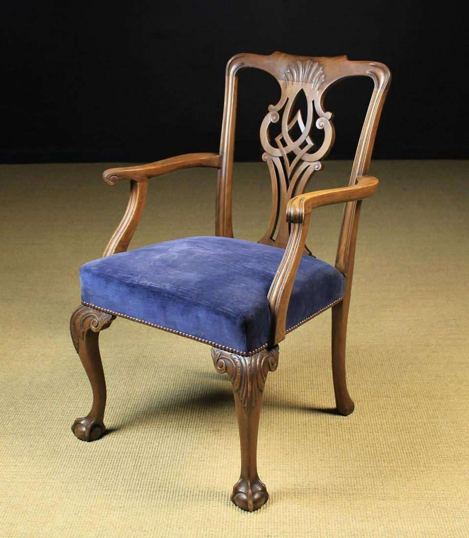 An 18th Century Style Mahogany Armchair having a