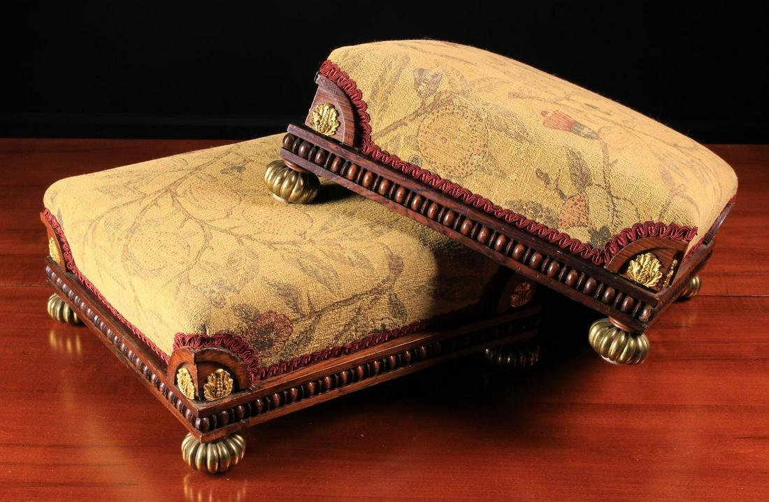 A Pair of Fine Regency Foot Stools in the style of