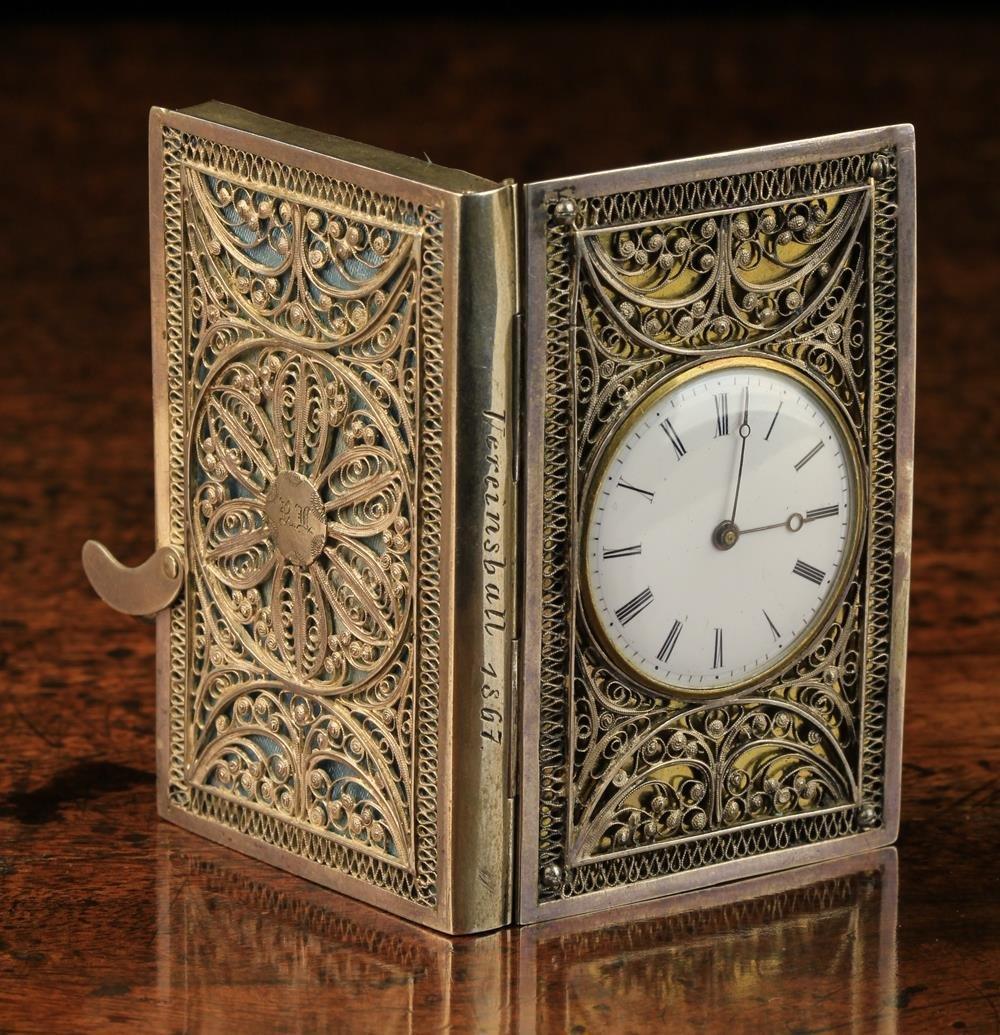 A Rare 19th Century Silver & Gilt Pocket Watch modelled