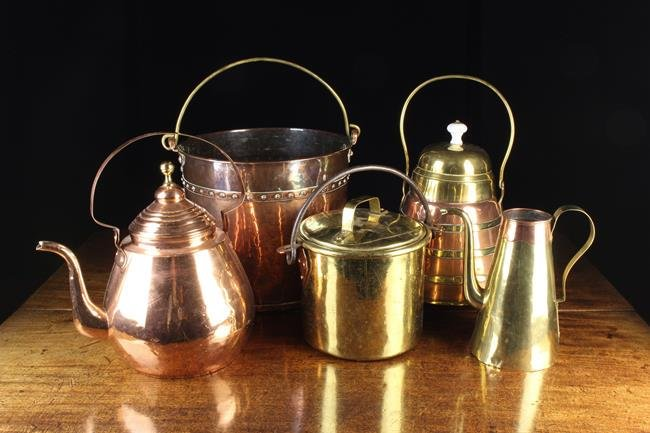 A Group of Antique Copper & Brassware, 18th & 19th