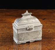 An 18th Century Pewter Travelling Holy WaterOil Casket