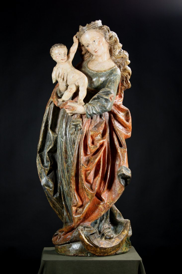 6: A Large & Impressive 16th Century Flemish Polychrome