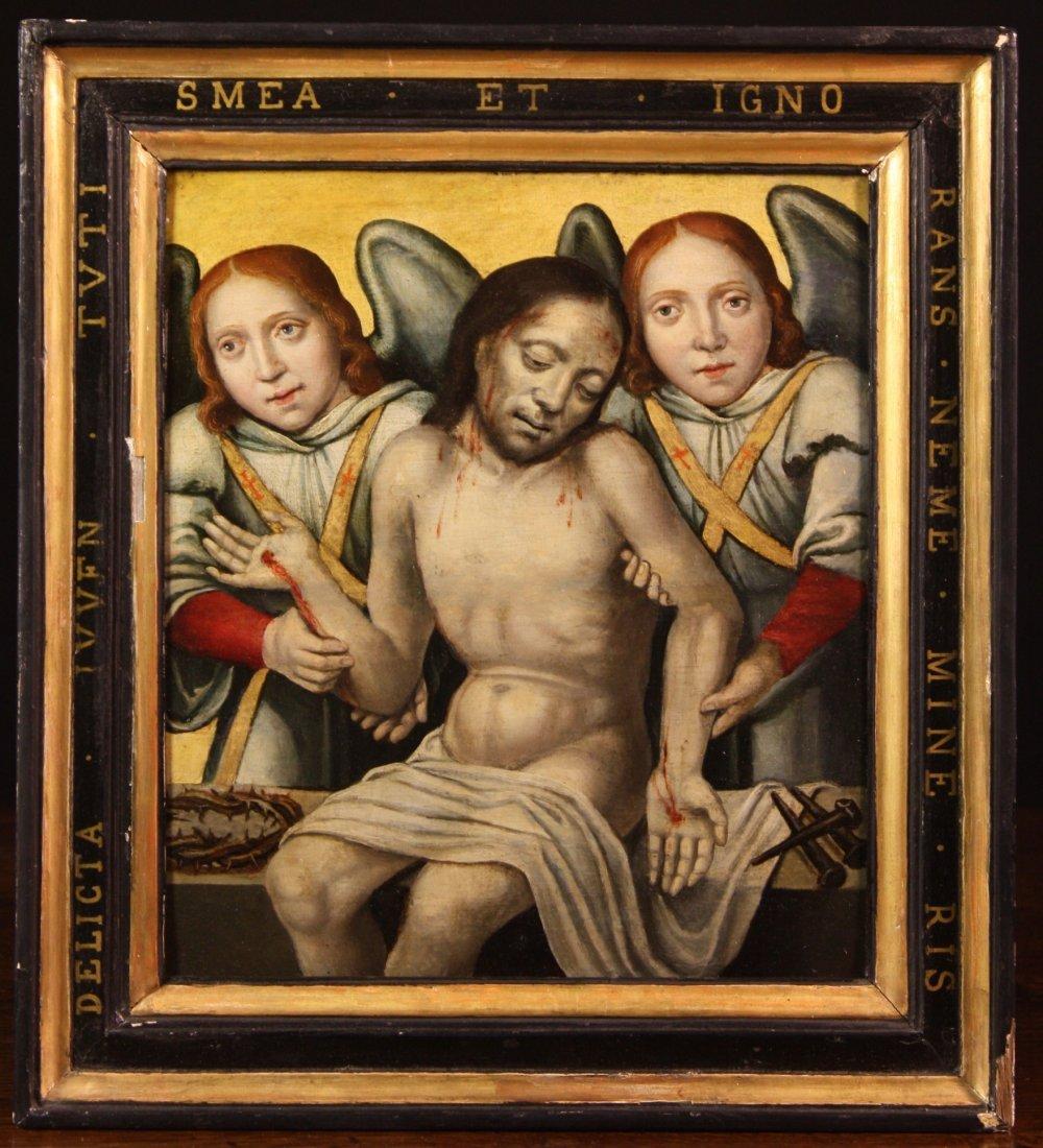 18: German School.  A 16th Century Oil on Panel depicti