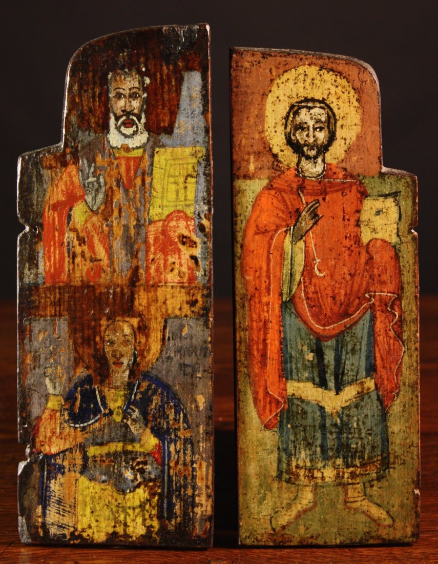 19: Two Late 17th/Early 18th Century Triptych Wings dep