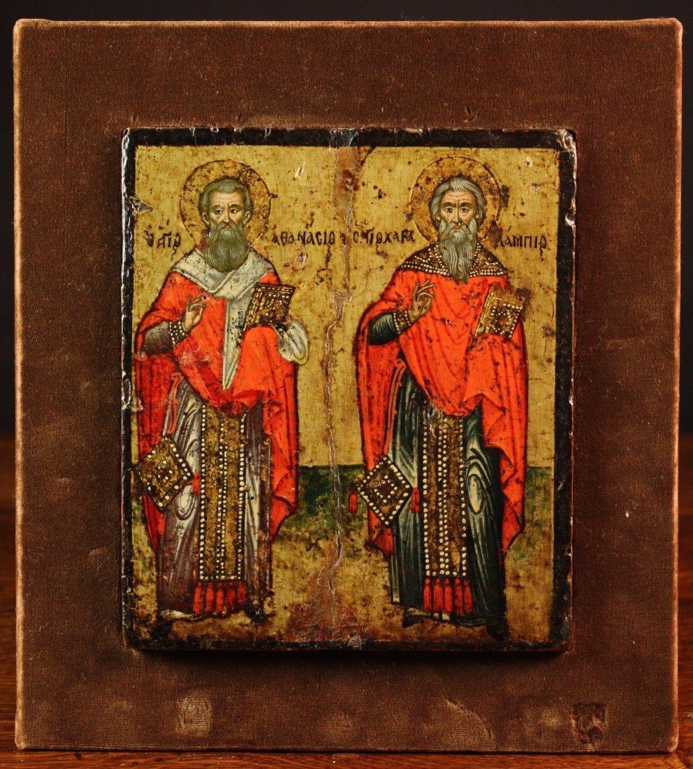 21: A 17th Century Greek Orthodox Icon of St Athanasius