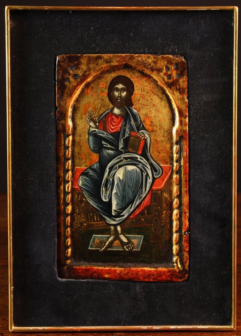23: An Early 17th Century Greek Icon of Christ Pantocra