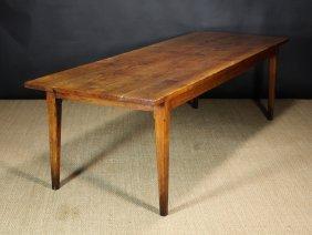A 19th Century Ash & Elm Farmhouse Table Of Rich Co