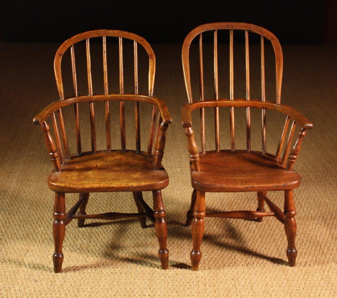 106: A Similar Pair of Child's Stickback Windsor Armcha