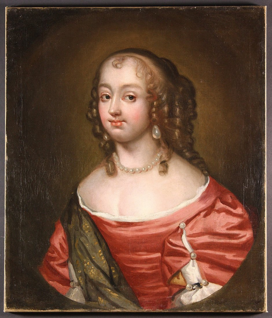 410: A 17th Century Oil on Canvas: Portrait of a young
