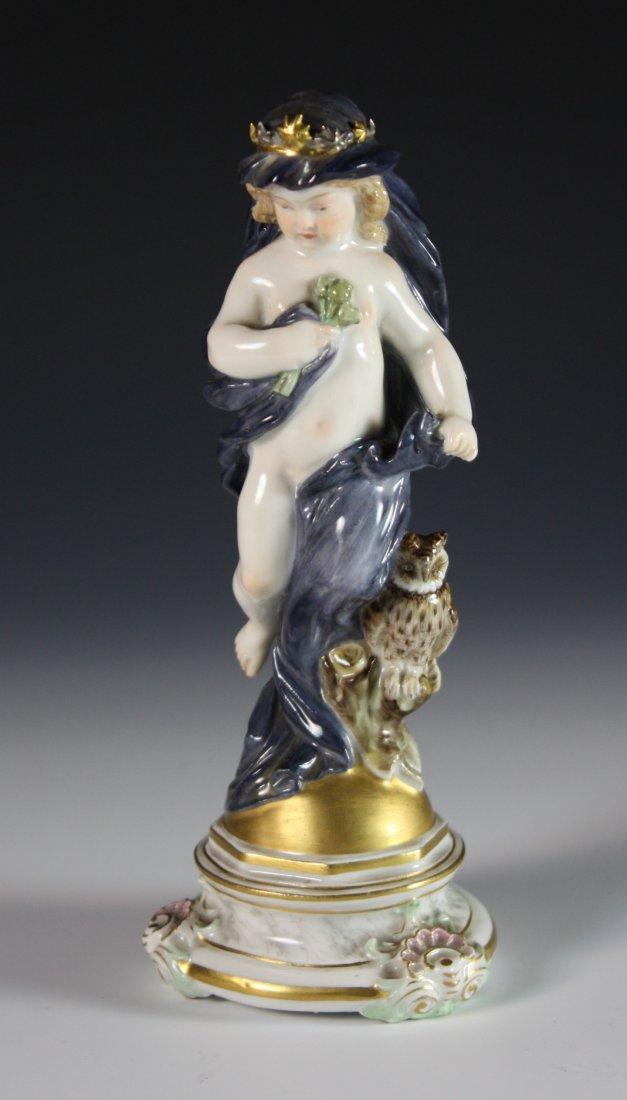 319: A Charming Meissen Porcelain Figure of Young Girl