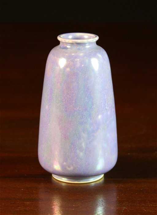 354 A Ruskin Pottery Iridescent Lavender Glaze Vase 5