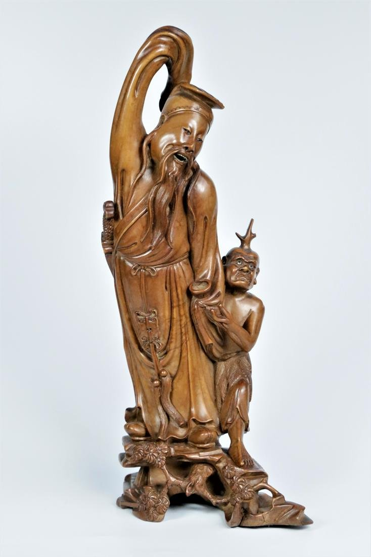 A boxwood figure ornament