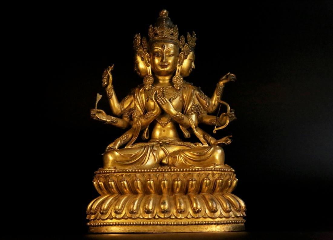 A gilt-bronze figure of vajratara
