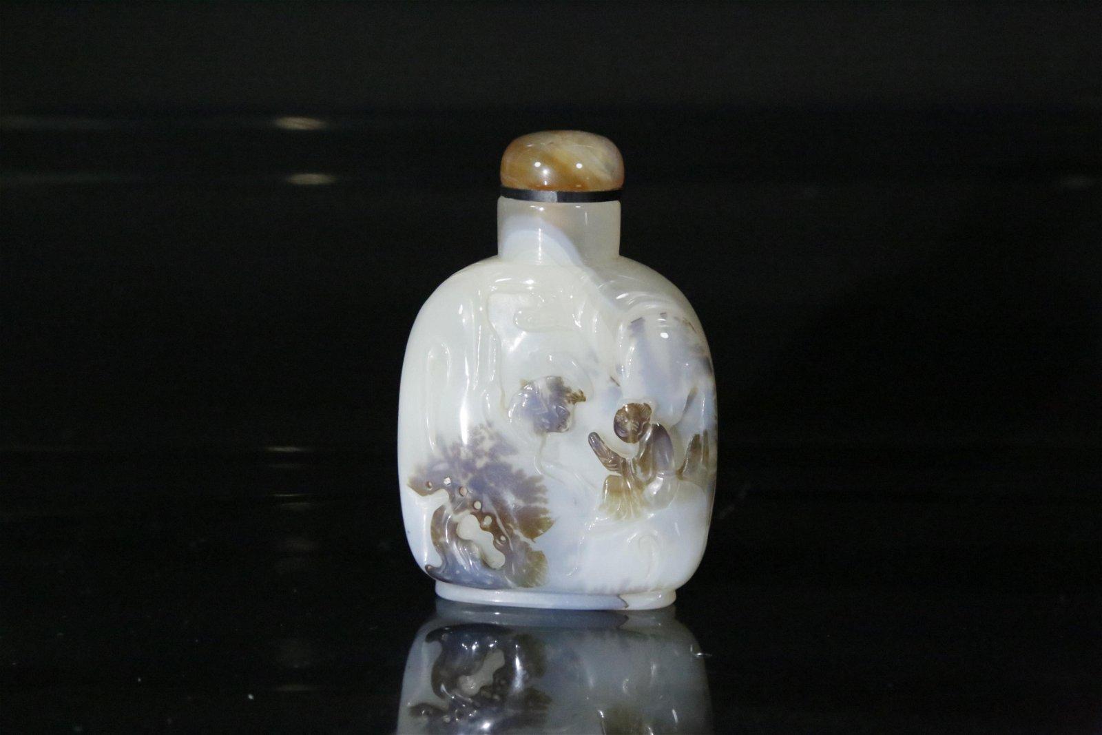 A agate snuff bottle