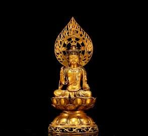 A Gilt-Bronze Figure of Avalokitesvara