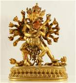 A Finely-cast Gilt-bronze Figure of Cakrasamvara