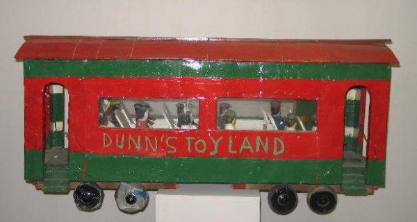 505: DUNN CIRCUS FOLK ART TRAIN CAR. Folk art passenger