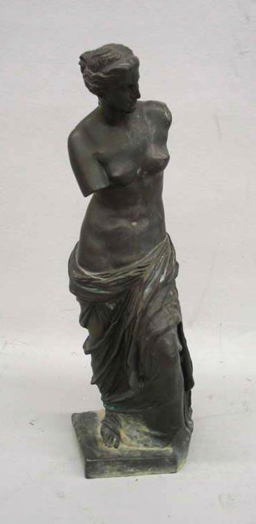 520: BRONZE OF THE VENUS DE MILO. Cast replica with two