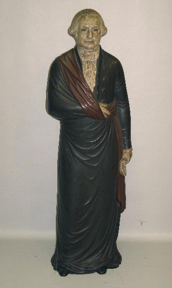 675: CAST IRON FIGURE OF GEORGE WASHINGTON. Intriguing
