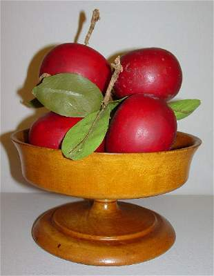 TREENWARE COMPOTE. Attributed to Pease. Maple with