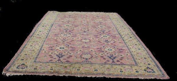 429: ORIENTAL RUG. Room size Indo-Tabriz. Pale yellow b