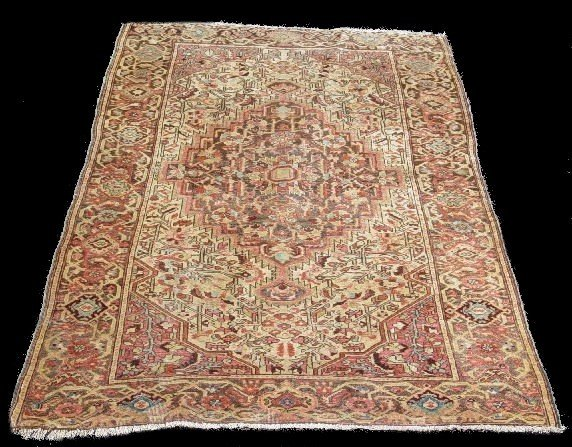 432: ORIENTAL RUG. Antique Sarouk. Muted colors with br