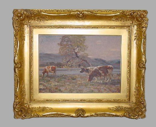 """441: OIL ON ARTIST BOARD PAINTING BY """"DOUGLAS"""". Bright"""
