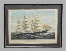 701: HANDCOLORED LITHOGRAPH. Currier & Ives restrike by
